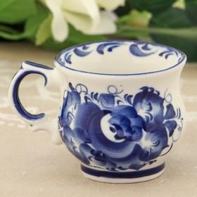 Чашка «Кофейная», 9×9×6 см, гжель