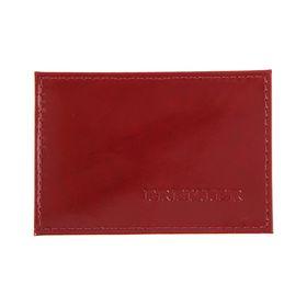 Футляр для карточек и проездных, красный, глянцевый