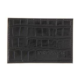 Футляр для карточки, цвет чёрныйкрокодил