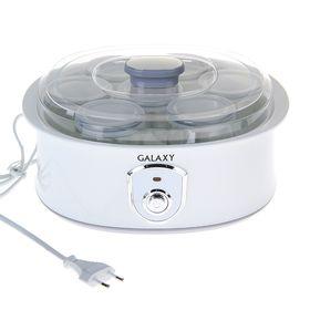 Йогуртница Galaxy GL 2690, 20 Вт, 200 мл, 7 ёмкостей, белая Ош