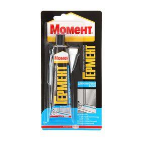 """Герметик силиконовый """"Момент"""" гермент, для окон и стекол, белый, 85 мл"""