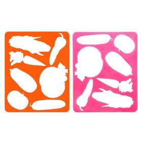 Трафарет для рисования «Овощи», европодвес, микс Ош