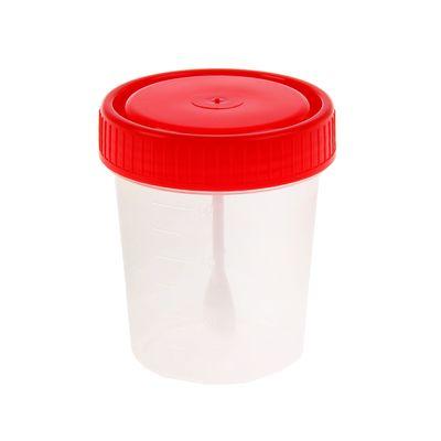 Контейнер для анализов стерильный с ложкой, 60 мл