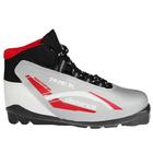 Ботинки лыжные TREK Distance SNS ИК, цвет серебряный, лого красный, размер 40