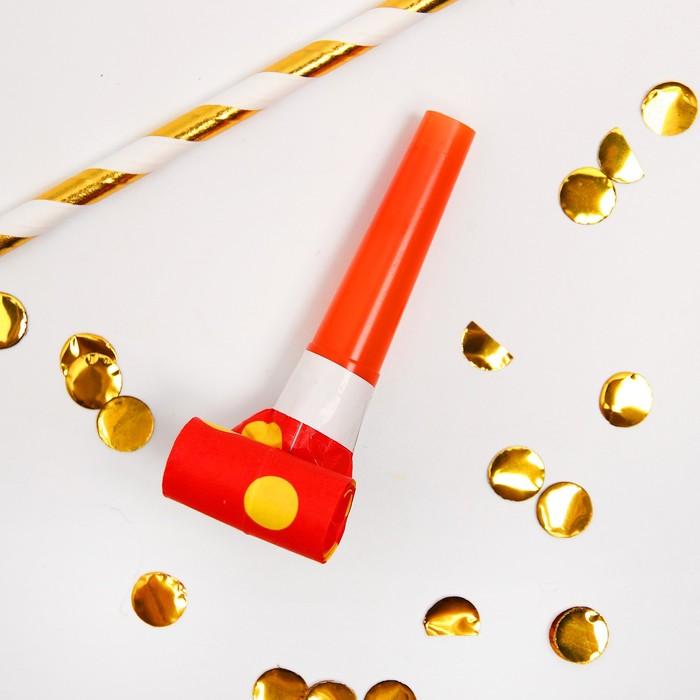 Карнавальный язычок Горох, набор 6 шт., цвет красный