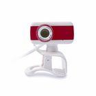 Веб-камера CBR CW-832M Red, 0.3 МП, 640 х 480, 4 линзы, микрофон, бело-красная