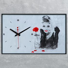 Часы настенные, серия: Люди, 'Одри Хепберн', 57х35х4 Ош