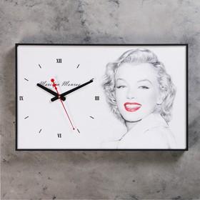 Часы настенные, серия: Люди, 'Мэрилин Монро', 37х60 см Ош