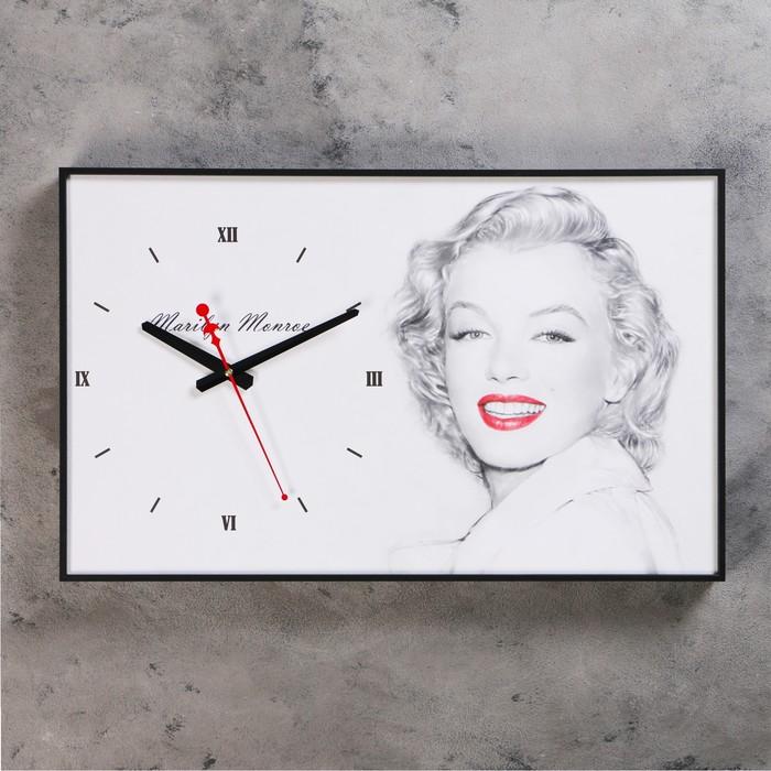 Часы настенные, серия Люди, Мэрилин Монро, 57х35х4 см
