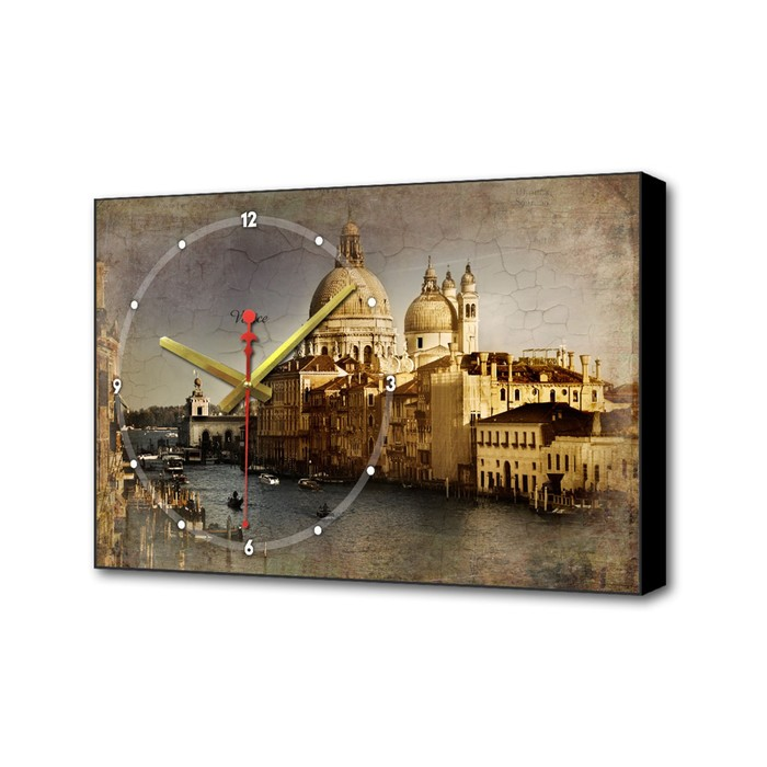 Часы настенные, серия Город, Собор в Венеции, 57х35х4 см