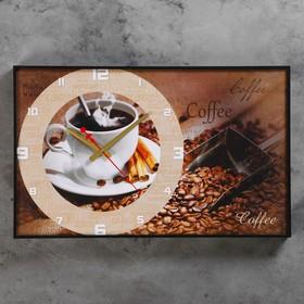 Часы настенные, серия: Кухня, 'Coffee', 57х35х4  см, микс Ош