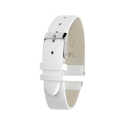 Ремешок для часов, женский, 14 мм, натуральная кожа, белый, микс