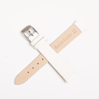 Ремешок для часов, женский, 14 мм, натуральная кожа, белый - Фото 1