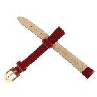 Ремешок для часов, женский, 10 мм, натуральная кожа, бордо