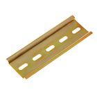 DIN-рейка L 100, оцинкованная, цвет желтый