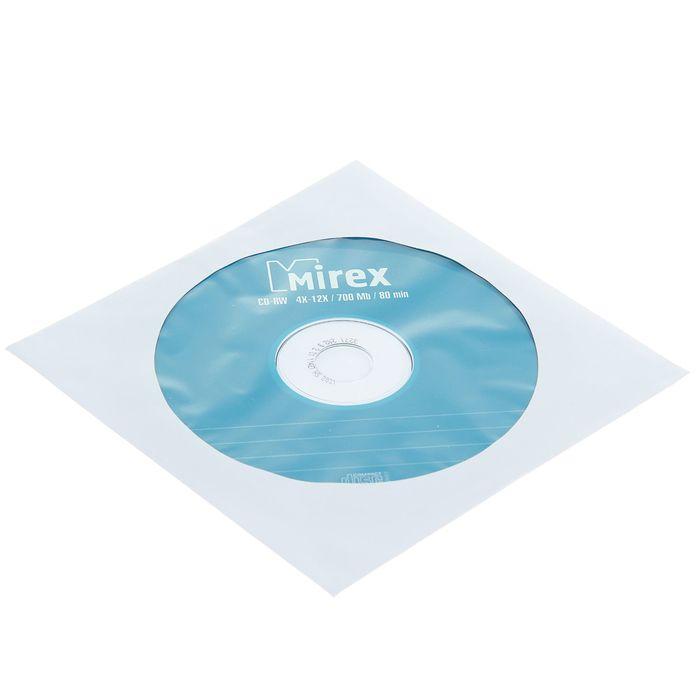 Диск CD-RW Mirex, 4-12x, 700 Мб, Конверт, 1 шт