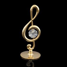Сувенир «Скрипичный ключ», 3,2×3,2×8 см, с кристаллом Сваровски Ош