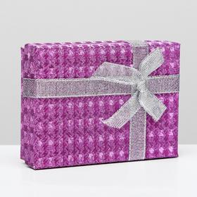 "Коробка подарочная ""Россыпь блёсток"", цвет малиновый, 11 х 8 х 3 см"