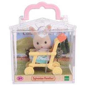Игровой набор «Младенец в пластиковом сундучке. Кролик в коляске»
