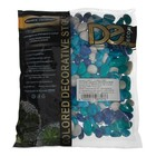 """Грунт для аквариума """"Галька цветная,  голубой-синий-белый-бирюзовый"""" 800г фр 8-12 мм - Фото 2"""