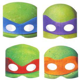 Маска «Черепашки-ниндзя», бумажная, набор 8 шт., на резинке
