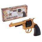 Пистолет игрушечный Oregon Metall Gold Western с 12-зарядными пистонами