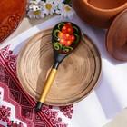 Ложка деревянная «Чернушка», полубаская, хохлома - Фото 3