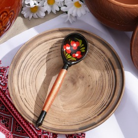 Ложка деревянная «Чернушка», маленькая, хохлома, МИКС Ош