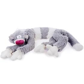 Мягкая игрушка «Кот Бекон», 112 см, цвет бело-серый Ош