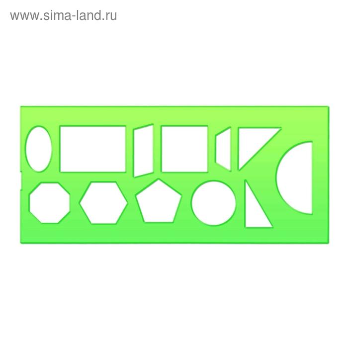 Трафарет геометрический фигурный, зелёный