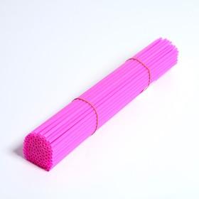 Трубочка для шаров, 41 см, d=6 мм, цвет розовый Ош