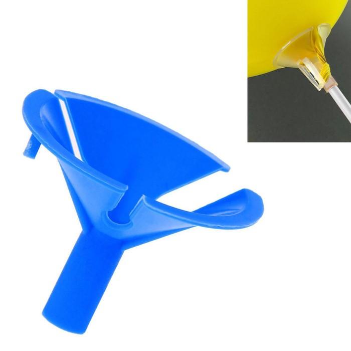 Держатель-зажим для шаров, отверстие 0,6 см, d4,5 см, цвет синий