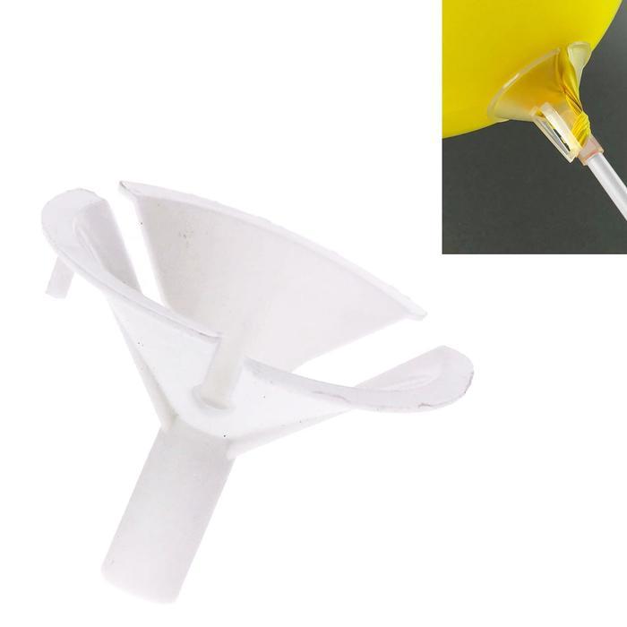 Держатель-зажим для шаров, отверстие 0,6 см, d4,5 см, цвет белый