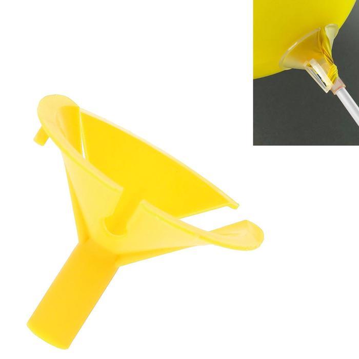 Держатель-зажим для шаров, отверстие 0,6 см, d=4,5 см, цвет жёлтый
