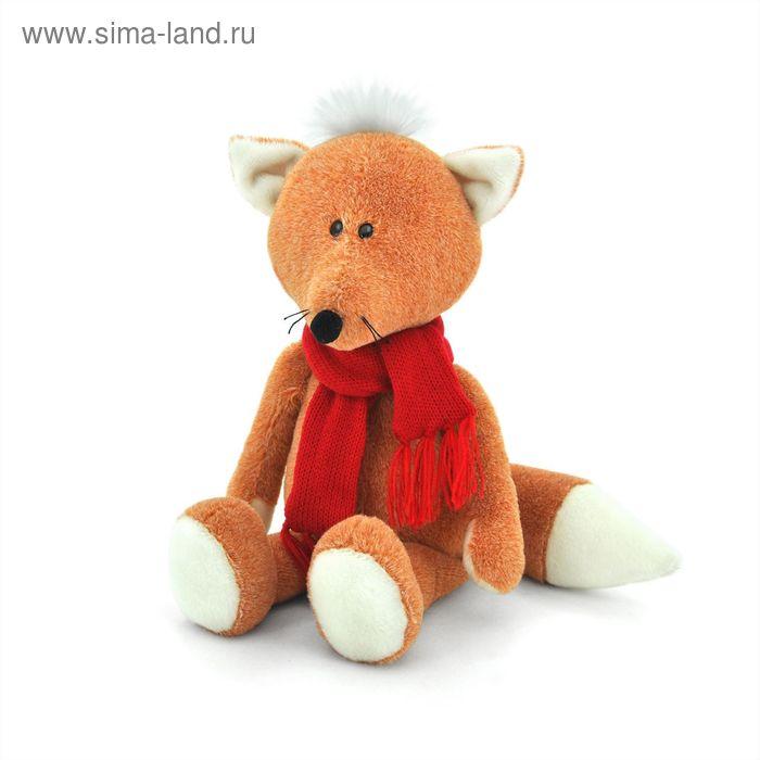 Мягкая игрушка «Лисёнок Рыжик» в шарфике, 27 см