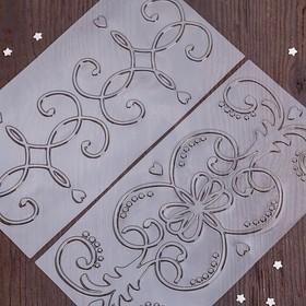 Набор молдов кондитерских для украшения выпечки 30х15 см 'Изобилие', 2 шт Ош