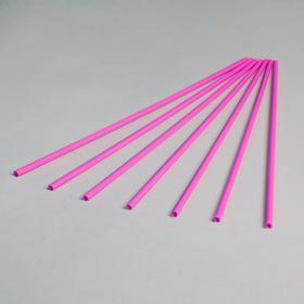 Трубочка для шаров, 40 см, d=1 см, цвет розовый