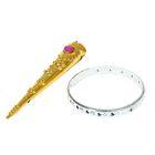 Карнавальный набор «Металлик», 2 предмета: браслет, напальчник, цвета МИКС