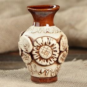 Ваза 'Стася' малая, день-ночь, ручная лепка, керамика Ош