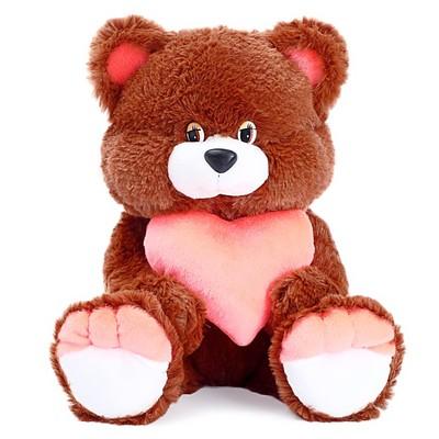 Мягкая игрушка «Медведь Романтик» с сердцем, МИКС - Фото 1