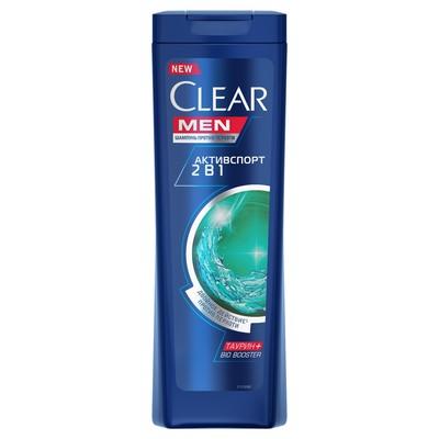 Шампунь для волос Clear Men 2 в1 «Активспорт», 400 мл - Фото 1