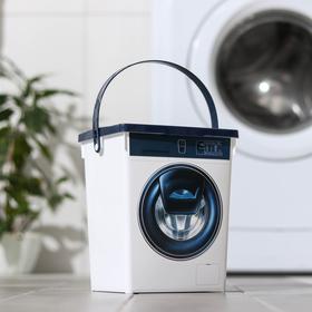 Контейнер для стирального порошка, 5 л, цвет белый Ош