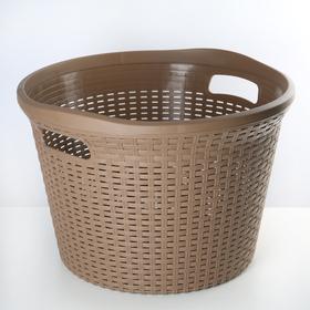 Корзина для белья «Артлайн», 32 л, 45×45×30 см, цвет МИКС