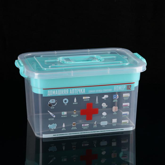 Аптечка с вкладышем «Домашний доктор», 10 л, цвет МИКС