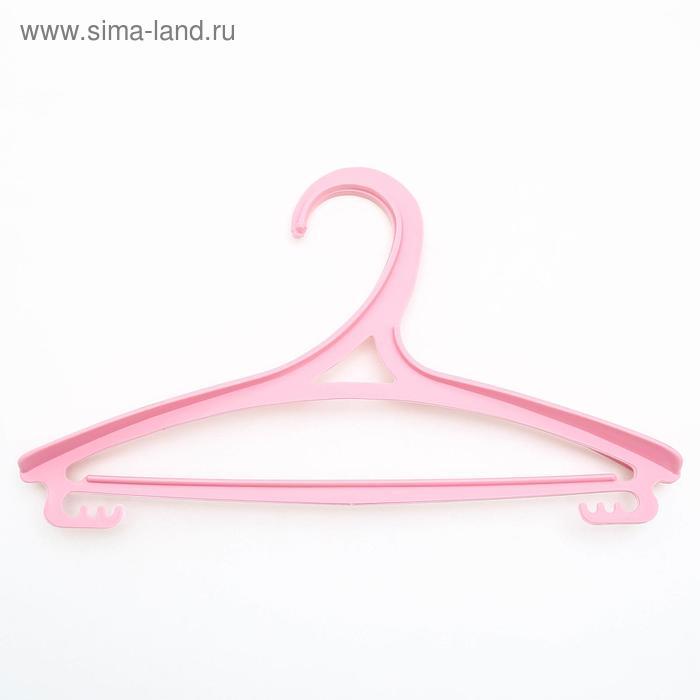 Вешалка-плечики, размер 30-34, цвет МИКС
