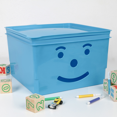 Ящик детский «Улыбка», 15 л, цвет МИКС - Фото 1