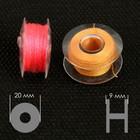 Набор шпулек с нитками в контейнере, d = 20 мм, 25 шт, цвет МИКС - Фото 3