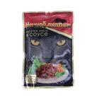 """Влажный корм """"Ночной охотник"""" для кошек, говядина в соусе, пауч, 100 г"""