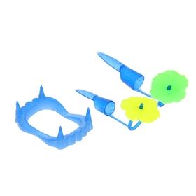 Набор «Челюсть», с когтями, цвета МИКС