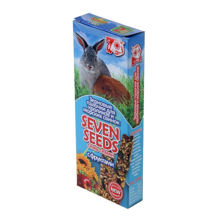 """Палочки """"Seven Seeds special"""" для кроликов и морских свинок, фрукты, 2 шт, 100 г"""